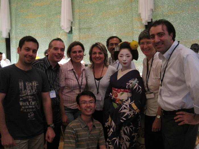 Former  PILAB member Dr. Oya Aran and Prof. Lale Akarun at ICCV 2009, Kyoto, Japan